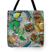 Made Of Broken China Temple Of The Dawn-wat Arun In Bangkok-thai Tote Bag
