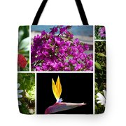 Madeiran Flower Collage Tote Bag