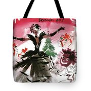 Mademoiselle Cover Featuring A Doll Surrounded Tote Bag