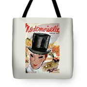 Mademoiselle Cover Featuring A Female Equestrian Tote Bag