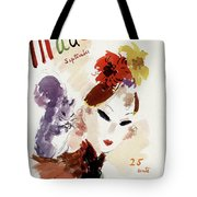 Mademoiselle Cover Featuring A Woman Tote Bag