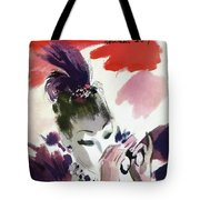 Mademoiselle Cover Featuring A Woman Looking Tote Bag