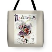 Mademoiselle Cover Featuring An Illustration Tote Bag