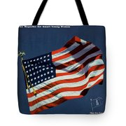 Mademoiselle Cover Featuring The U.s. Flag Tote Bag
