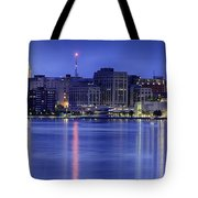 Madison Skyline Reflection Tote Bag by Sebastian Musial