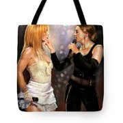 Madonna And Britney Spears  Tote Bag