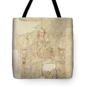 Madonna And Child Enthroned, Drawing For A Fresco Sinopia On Paper Tote Bag