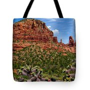 Madonna And Child Two Nuns Rock Formations Sedona Arizona Tote Bag