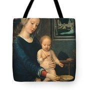 Madonna And Child With The Milk Soup Tote Bag