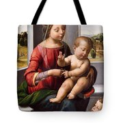 Madonna And Child With The Young Saint John The Baptist Tote Bag