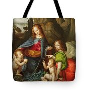 Madonna Of The Rocks Tote Bag