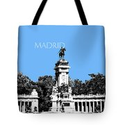 Madrid Skyline Retiro Park - Light Blue Tote Bag