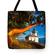 Madrone And Lighthouse Tote Bag