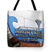 Madryn Lab Whale Sign Tote Bag