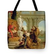Maecenas Presenting The Liberal Arts To The Emperor Augustus Tote Bag
