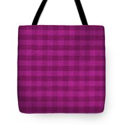 Magenta Checkered Pattern Cloth Background Tote Bag