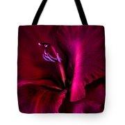 Magenta Gladiola Flower Tote Bag