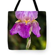 Magenta Iris Crop Tote Bag