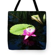 Magenta Lily Monet Tote Bag