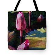 Magenta Lily Pads Tote Bag