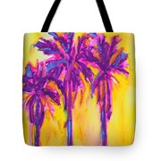 Magenta Palm Trees Tote Bag