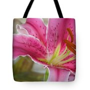 Magenta Tiger Lily Tote Bag