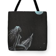Magic Crow Feather Tote Bag