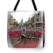 Magic Kingdom Walt Disney World 3 Panel Composite Tote Bag