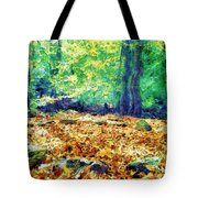 Magic Stone Circle Tote Bag