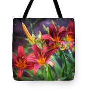 Magical Evening Daylilies Tote Bag