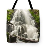Magical Falls - Fairy Falls In The Columbia River Gorge Area Of Oregon Tote Bag
