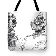 Magician And His Friend Tote Bag