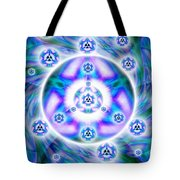 Magnetic Fluid Harmony Banner Tote Bag