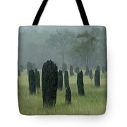 Magnetic Termite Mounds Tote Bag by Bob Christopher