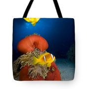 Magnificent Red Anemone With Anemone Fish Tote Bag