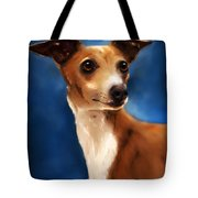 Magnifico - Italian Greyhound Tote Bag by Michelle Wrighton