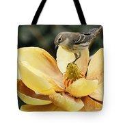 Magnolia And Warbler Photo Tote Bag