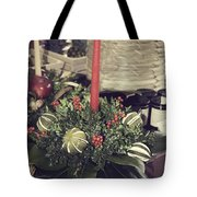 Magnolia Christmas Candle Colonial Williamsburg Tote Bag