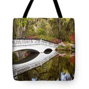 Magnolia Gardens' Bridge Tote Bag