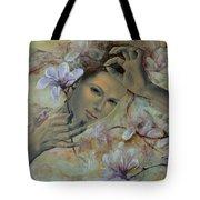 Magnolias Tote Bag by Dorina  Costras