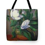 Magnolias On Brass Tote Bag