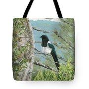 Magpie In Alaska Tote Bag