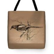 Magpie Sketch Tote Bag