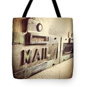 Mail Lost In Time Tote Bag