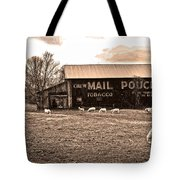 Mail Pouch Tobacco Barn And Sheep Tote Bag
