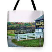 Mail Pouch Tobacco Barn In The Fall Tote Bag
