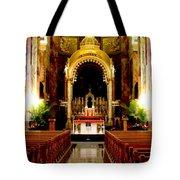 Main Altar Of Basilica Tote Bag