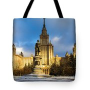 Main Building Of Moscow State University On Sparrow Hills - 2 - Featured 3 Tote Bag