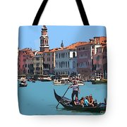 Main Canal Venice Italy Tote Bag