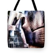 Main Entrance Of Guggenheim Bilbao Museum In The Basque Country Fractal Tote Bag